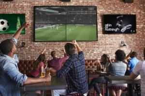 Bar Marketing Werbetreibende Fußball Kunden Digitale Bildschirmwerbung Offline Werbung Fußball Positiv Zielgruppe Targeting