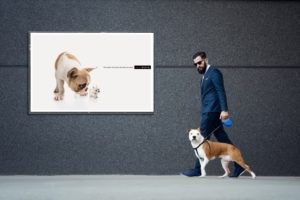 Außenwerbung Kundenloyalität OOH-Werbung Marketingkampagne Business Smart Hund Dog Werbung Out-of-Home