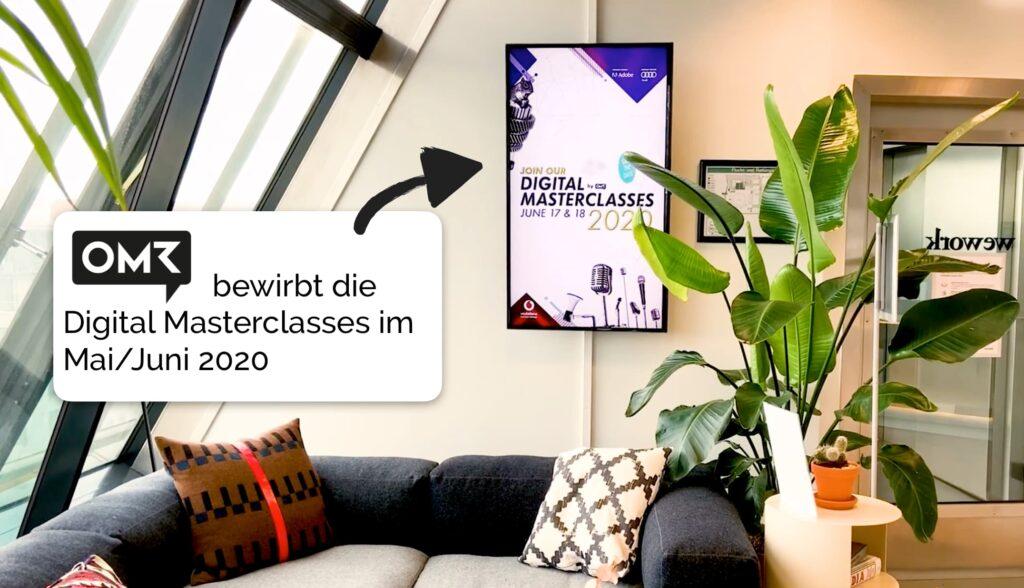 WeWork OMR Werbung Advertisement Marketing Kampagne DOOH ACA Hypetargeting Context Kontext